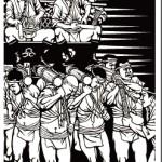 博多祇園山笠のきりえが新幹線コンコース2Fに展示