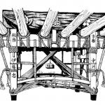舁き山土台(博多祇園山笠)スケッチ